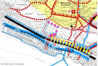 Abbildung 1. Alternativer Zugang zur Passerelle im Verkehrsplan aufnehmen.